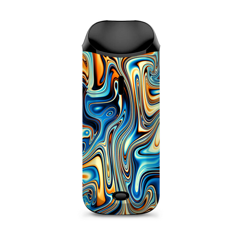 Blue Orange Psychadelic Oil Slick Vaporesso Nexus AIO Kit Skin