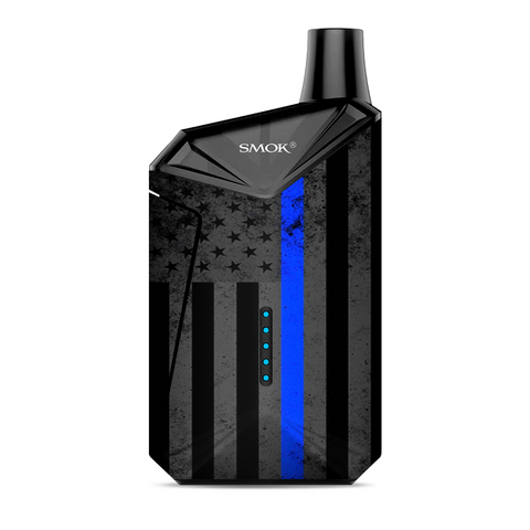 Thin Blue Line American Flag Distressed Smok  X-Force AIO Kit  Skin