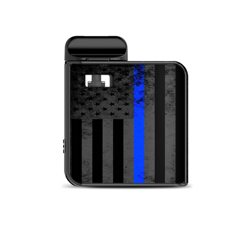 Thin Blue Line American Flag Distressed Smok Mico Kit Skin