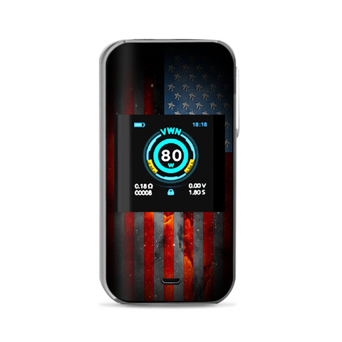Dark Distressed American Flag Sky Stars Galaxy Vaporesso Luxe Nano Kit Skin