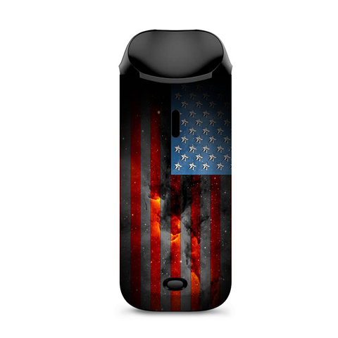 Dark Distressed American Flag Sky Stars Galaxy Vaporesso Nexus AIO Kit Skin