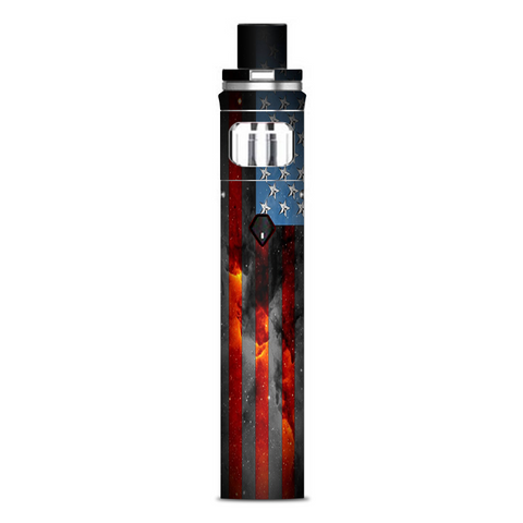 Dark Distressed American Flag Sky Stars Galaxy Smok Nord AIO Stick Skin