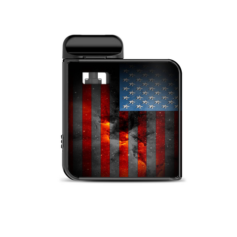 Dark Distressed American Flag Sky Stars Galaxy Smok Mico Kit Skin