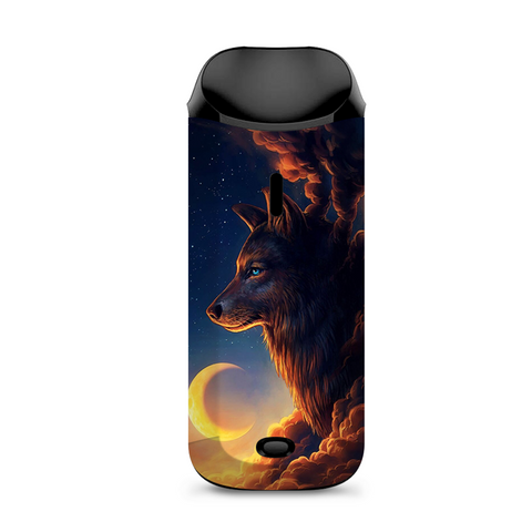 Wolf Clouds Moon Sky Vaporesso Nexus AIO Kit Skin