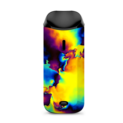 Bright Colorful Abstract Swirl Vaporesso Nexus AIO Kit Skin