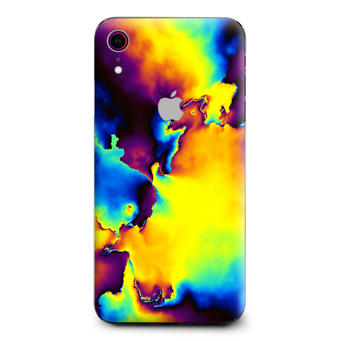 Bright Colorful Abstract Swirl Apple iPhone XR Skin