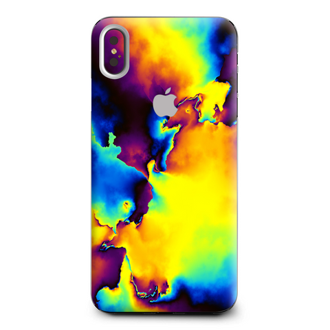Bright Colorful Abstract Swirl Apple iPhone XS Max Skin