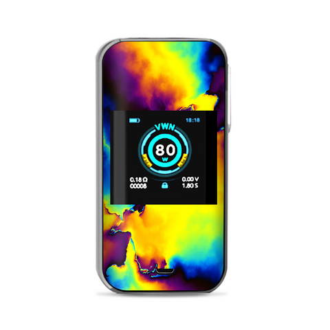 Bright Colorful Abstract Swirl Vaporesso Luxe Nano Kit Skin