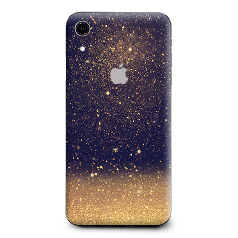 Gold Dust Lens Flare Glitter Apple iPhone XR Skin