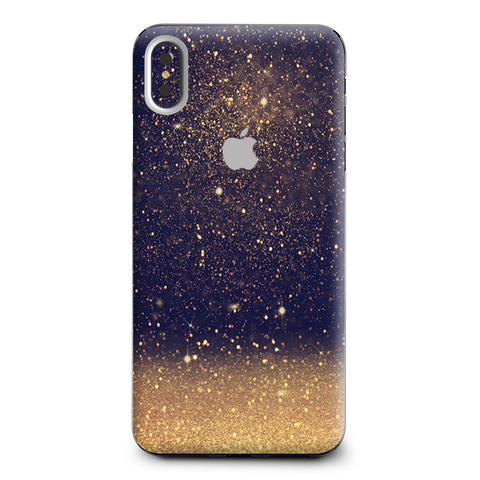 Gold Dust Lens Flare Glitter Apple iPhone XS Max Skin