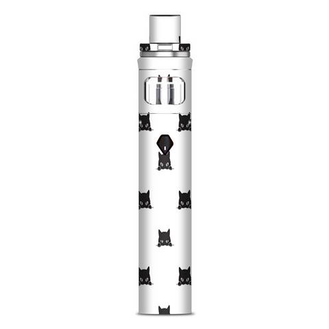 Sneaky Cat Kitten Pattern Black On White Smok Nord AIO Stick Skin
