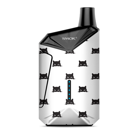 Sneaky Cat Kitten Pattern Black On White Smok  X-Force AIO Kit  Skin