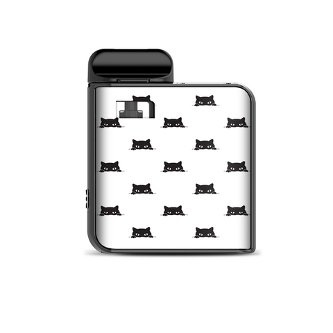 Sneaky Cat Kitten Pattern Black On White Smok Mico Kit Skin