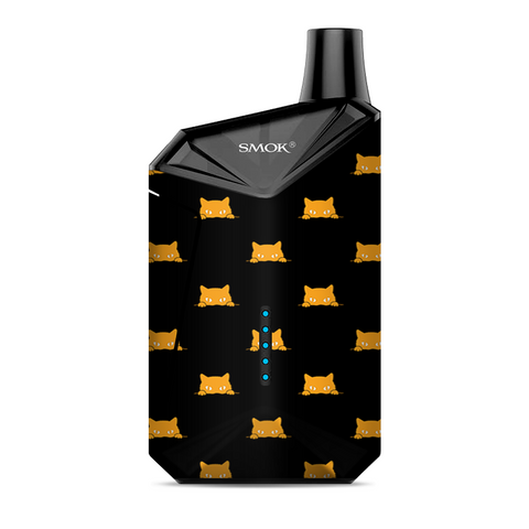 Sneaky Cat Kitten Pattern Gold On Black Smok  X-Force AIO Kit  Skin