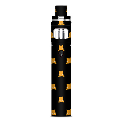 Sneaky Cat Kitten Pattern Gold On Black Smok Nord AIO Stick Skin