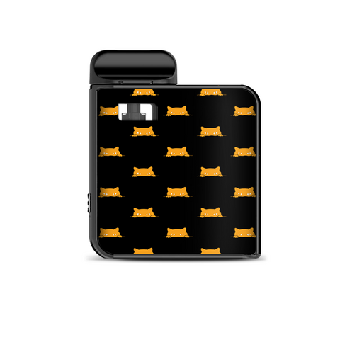 Sneaky Cat Kitten Pattern Gold On Black Smok Mico Kit Skin