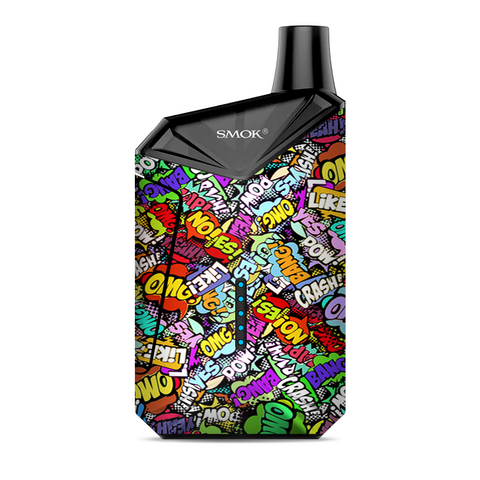 Pow Bang Omg Like Stickerlap Sticker Bomb Smok  X-Force AIO Kit  Skin