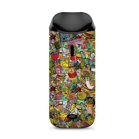 Sticker Slap Cartoon Bomb Vaporesso Nexus AIO Kit Skin