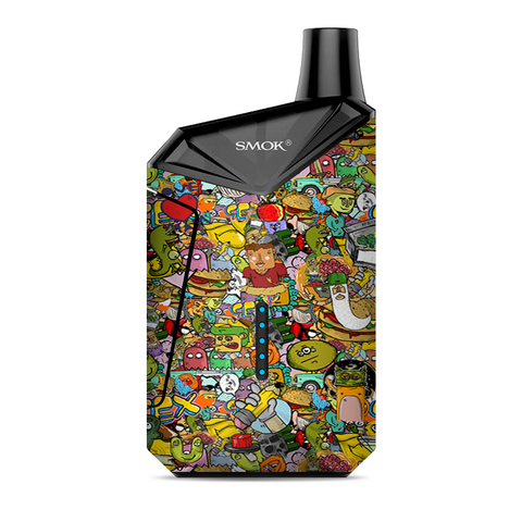Sticker Slap Cartoon Bomb Smok  X-Force AIO Kit  Skin