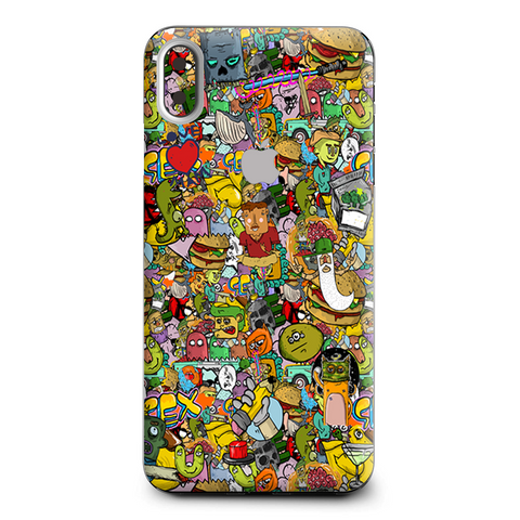 Sticker Slap Cartoon Bomb Apple iPhone XS Max Skin