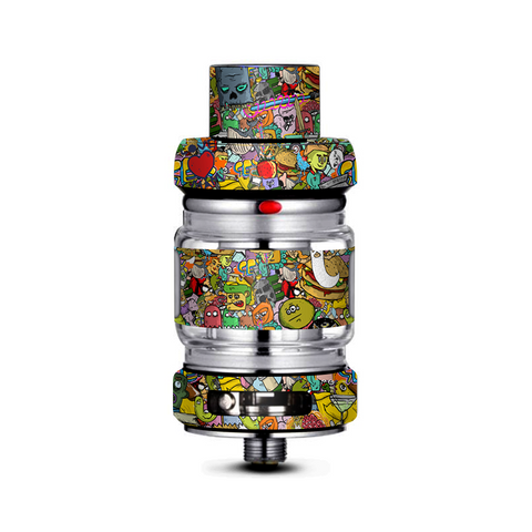 Sticker Slap Cartoon Bomb Freemax Mesh Pro Tank Skin