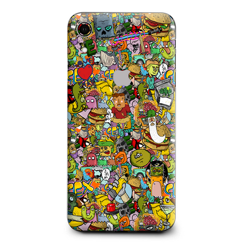 Sticker Slap Cartoon Bomb Apple iPhone XR Skin