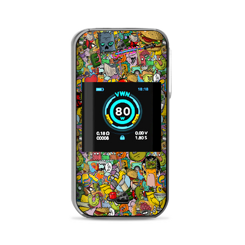 Sticker Slap Cartoon Bomb Vaporesso Luxe Nano Kit Skin