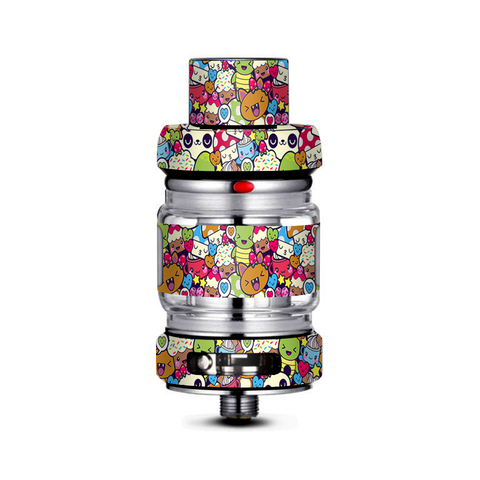 Panda Anime Cartoon Stickerslap Freemax Mesh Pro Tank Skin