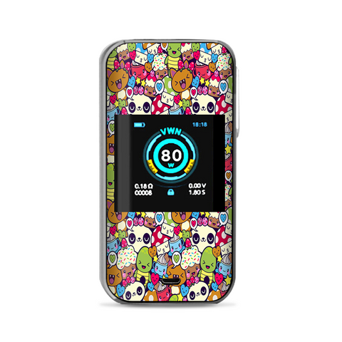 Panda Anime Cartoon Stickerslap Vaporesso Luxe Nano Kit Skin