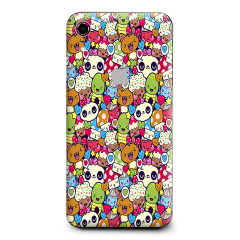 Panda Anime Cartoon Stickerslap Apple iPhone XR Skin