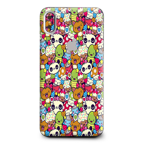 Panda Anime Cartoon Stickerslap Apple iPhone XS Max Skin