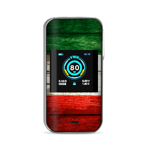 Flag Italy Grunge Distressed Country Vaporesso Luxe Nano Kit Skin