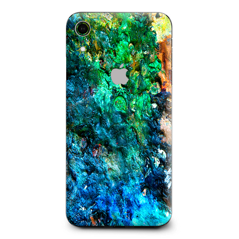 Stab Wood Oil Paint Apple iPhone XR Skin