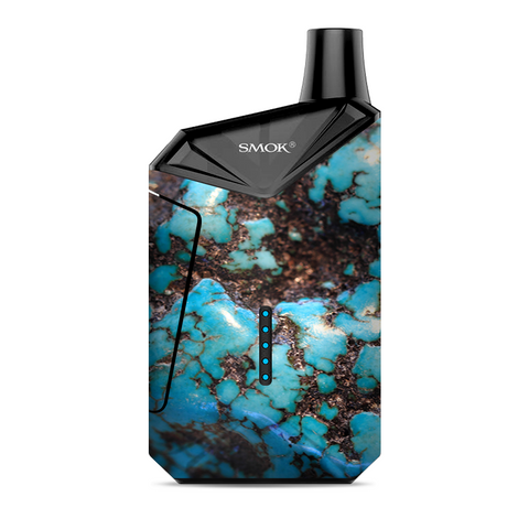 Stab Wood Blue Green Stabilized Stone Smok  X-Force AIO Kit  Skin