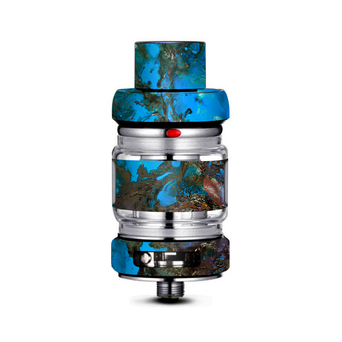 Stab Wood Oil Paint Blue Green Orange Freemax Mesh Pro Tank Skin