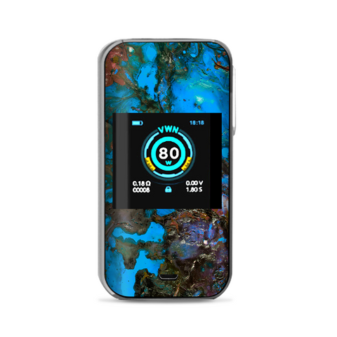 Stab Wood Oil Paint Blue Green Orange Vaporesso Luxe Nano Kit Skin