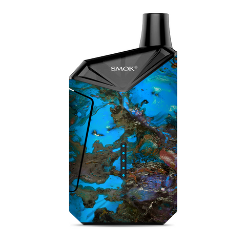 Stab Wood Oil Paint Blue Green Orange Smok  X-Force AIO Kit  Skin
