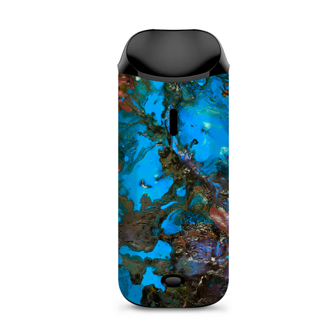 Stab Wood Oil Paint Blue Green Orange Vaporesso Nexus AIO Kit Skin