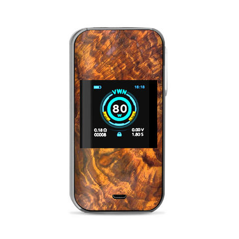 Orange Burnt Burl Wood Aged Vaporesso Luxe Nano Kit Skin