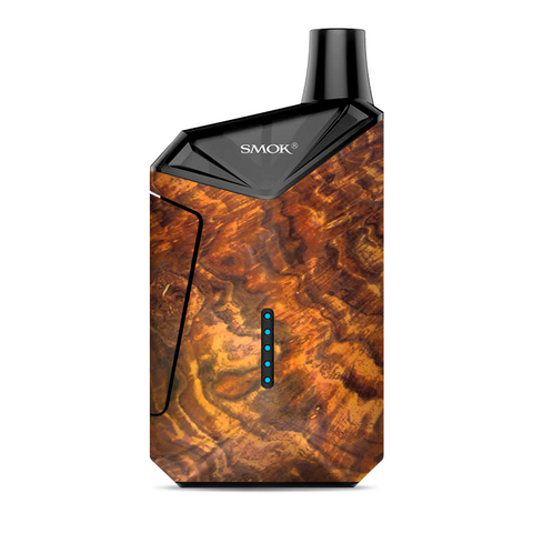 Orange Burnt Burl Wood Aged Smok  X-Force AIO Kit  Skin