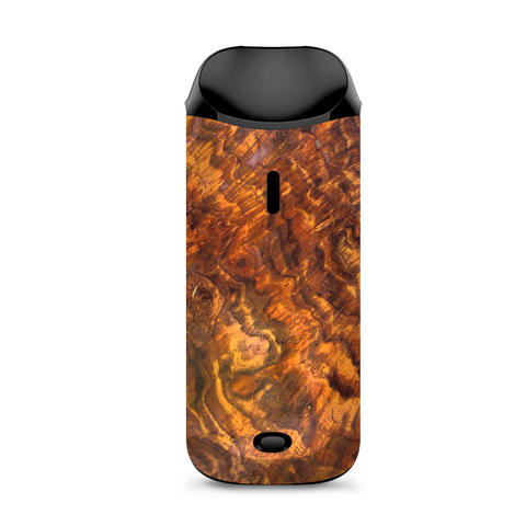 Orange Burnt Burl Wood Aged Vaporesso Nexus AIO Kit Skin