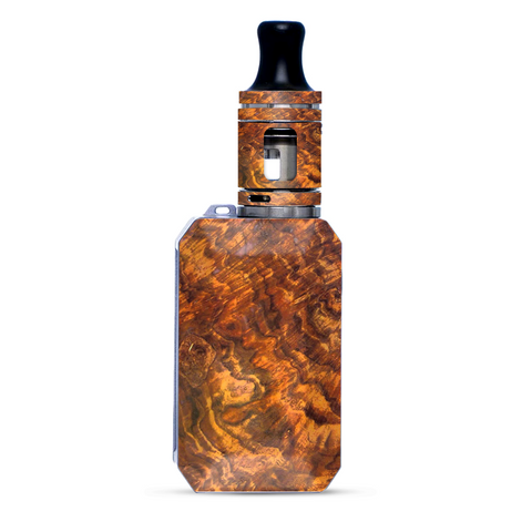 Orange Burnt Burl Wood Aged