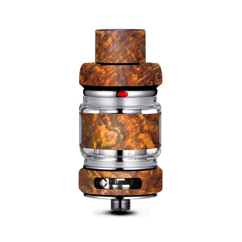 Orange Burnt Burl Wood Aged Freemax Mesh Pro Tank Skin