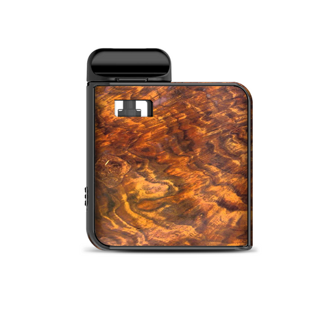 Orange Burnt Burl Wood Aged Smok Mico Kit Skin