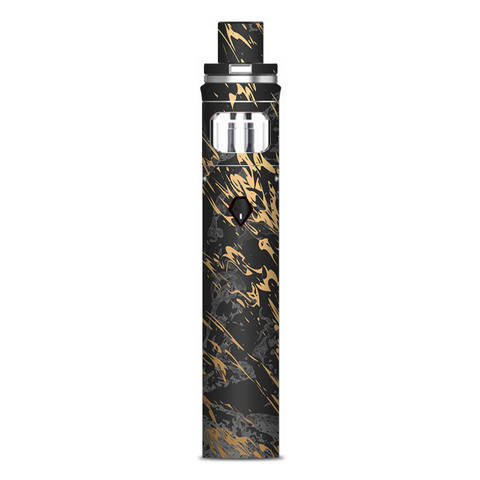 Gold Marble Dark Gray Background Smok Nord AIO Stick Skin
