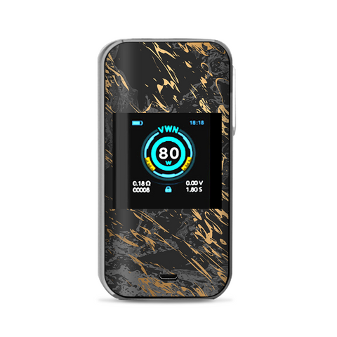 Gold Marble Dark Gray Background Vaporesso Luxe Nano Kit Skin