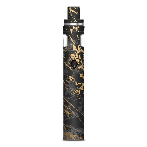 Gold Marble Dark Gray Background Smok Nord AIO 19 Skin