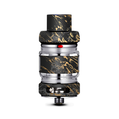 Gold Marble Dark Gray Background Freemax Mesh Pro Tank Skin