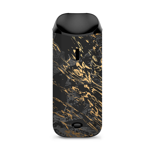 Gold Marble Dark Gray Background Vaporesso Nexus AIO Kit Skin