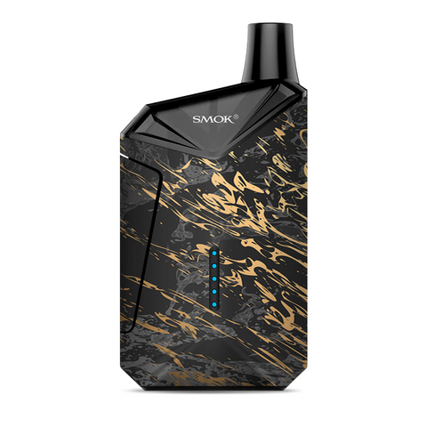Gold Marble Dark Gray Background Smok  X-Force AIO Kit  Skin